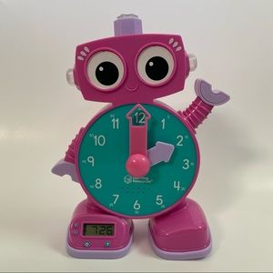 Learning Resources Tock The Learning Clock Robot Pink